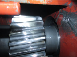 Inspection and repair of ASUG GVE 800x3,75-800x0,4 gearbox