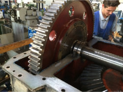 Inspection and repair of DEMAG Tangboom gearbox