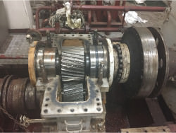 Inspection and repair on LOHMANN & STOLTERFOHT GAA-400-SN gearbox