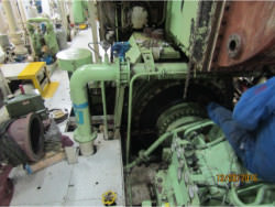 Inspection and repair on M.A.N. gearbox