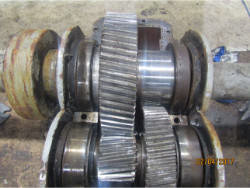 Inspection and repair on WGW ING 100/1000/3000 gearbox