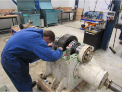 Inspection and repair of FLENDER GP1 320 gearbox