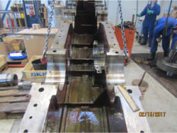 Inspection and repair on WGW AA-SCZ-600/2/S gearbox