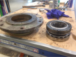 Inspection and repair of gearbox BIERENS DW15/26-Spec