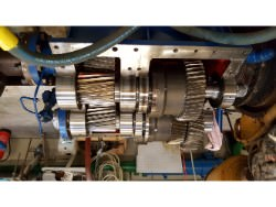 Inspection and repair on gearbox of Rhenania BWN-45
