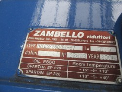 Inspection and repair on ZAMBELLO gearbox