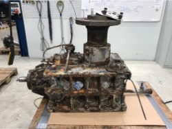 Inspection and repair on OSTERMANN KNV2-250-LR gearbox