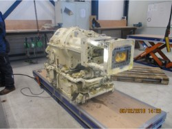 Inspection and repair on RENK B34 / 76-M240 gearbox