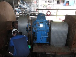 Inspection and repair on TACKE gearbox