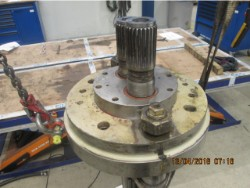 Inspection and repair on FLENDER 118-F-11000 gearbox