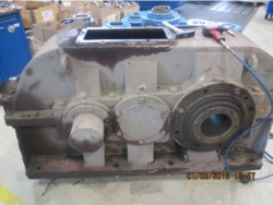 Inspection and repair on WGW DKBH 1500/So gearbox