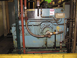 Service on a ASEA BROWN BOVERI gearbox