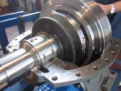 Inspection of a BHS gearbox