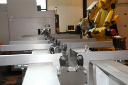 New load bed for automated production of gears and splines an long shafts