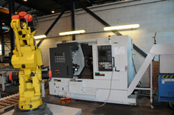 Fanuc Robot for automated production of gears and splines