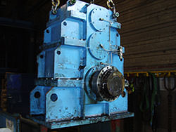 Inspection of a GUIDA IMPIANTI gearbox