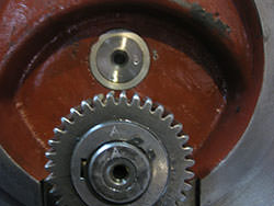 Service on a MAAG gearbox