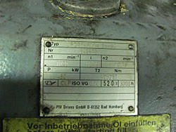 Spares for PIV gearbox