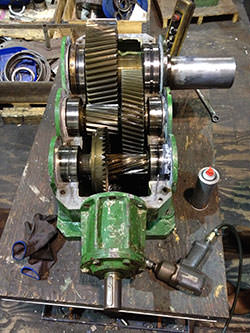 Service on a RENOLD gearbox