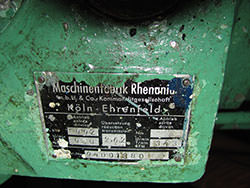 Inspection of a RHENANIA gearbox