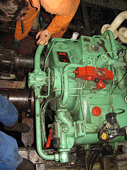 Repair of a RHENANIA gearbox