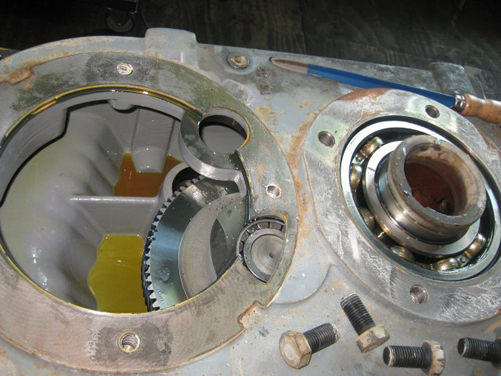 SEW reducer repair