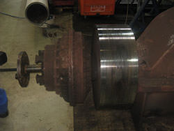 Service on a WGW gearbox