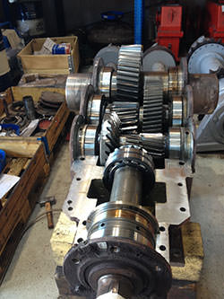 Repair of a WGW gearbox