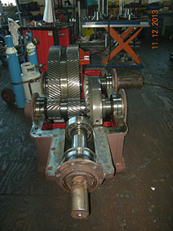 Inspection of a WGW gearbox