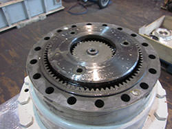 Service on a ZOLLERN gearbox