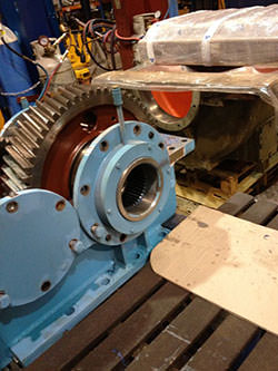 Service on a ZPMC gearbox