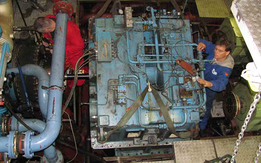 Onsite gearbox inspection, repair, alignment and commissioning